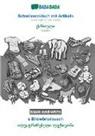Babadada Gmbh - BABADADA black-and-white, Schwiizerdütsch mit Artikeln - Georgian (in georgian script), s Bildwörterbuech - visual dictionary (in georgian script)