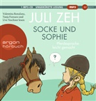 Juli Zeh, Valentina Bonalana, Tanja Fornaro, Uve Teschner - Socke und Sophie, 1 Audio-CD, (Hörbuch)