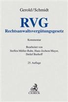 Wilhel Gerold, Wilhelm Gerold, Herbert Schmidt, Detlef Burhoff, Hans-Joche Mayer - Rechtsanwaltsvergütungsgesetz