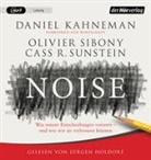 Danie Kahneman, Daniel Kahneman, Olivie Sibony, Olivier Sibony, Cass R Sunstein, Cass R. Sunstein... - Noise, 2 Audio-CD, MP3 (Hörbuch)