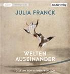 Julia Franck, Kathrin Wehlisch - Welten auseinander, 1 Audio-CD, 1 MP3 (Hörbuch)