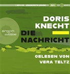 Doris Knecht, Vera Teltz - Die Nachricht, 1 Audio-CD, MP3 (Hörbuch)