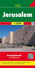 Freytag-Berndt und Artaria KG, Freytag-Bernd und Artaria KG - Freytag Berndt Stadtplan: Freytag & Berndt Stadtplan Jerusalem. Jeruzalem