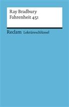 Heinz Arnold, Ray Bradbury - Lektüreschlüssel Ray Bradbury 'Fahrenheit 451'