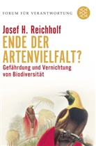 Josef H Reichholf, Josef H (Prof. Dr.) Reichholf, Josef H. Reichholf, Klau Wiegandt, Klaus Wiegandt - Ende der Artenvielfalt?