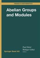 Pau C Eklof, Paul Eklof, Paul C. Eklof, Göbel, Rüdiger Göbel - Abelian Groups and Modules