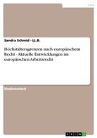 Sandra Schmid, Sandra Schmid - LL B, Sandra Schmid - Ll. B. - Höchstaltersgrenzen nach europäischem Recht - Aktuelle Entwicklungen im europäischen Arbeitsrecht