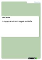 Erich Petlák - Pedagogicko-didaktická práca ucitel'a