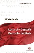 Berthold Forssman, Berthold Forssmann - Wörterbuch Lettisch-Deutsch, Deutsch-Lettisch