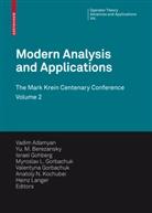 Vadim Adamyan, Vadim (Hrsg.) Adamyan, Yu. M. Berezansky, Yu. M. (Hrsg.) Berezansky, Yu.M. Berezansky, Israel Gohberg... - Modern Analysis and Applications 2