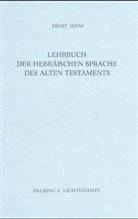 Ernst Jenni - Lehrbuch der Hebräischen Sprache des Alten Testaments