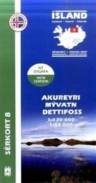 Island - Sérkort Akureyri, Mývatn, Dettifoss