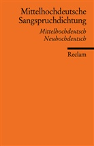 Nolt, NOLTE, Theodor Nolte, SCHUP, Volke Schupp, Volker Schupp - Mittelhochdeutsche Sangspruchdichtung des 13. Jahrhunderts