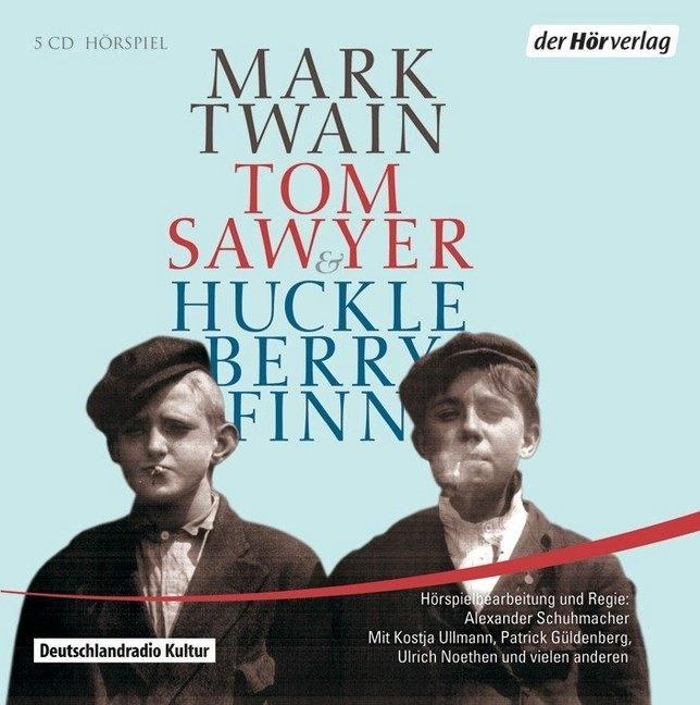 Mark Twain, Verena von Behr, Patrick Güldenberg, Fritzi Haberlandt, Ulrich Noethen, Kostja Ullmann - Tom Sawyer & Huckleberry Finn, 5 Audio-CDs (Hörbuch) - Hörspiel