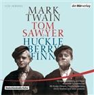 Mark Twain, Verena von Behr, Patrick Güldenberg, Fritzi Haberlandt, Ulrich Noethen, Kostja Ullmann - Tom Sawyer & Huckleberry Finn, 5 Audio-CDs (Hörbuch)