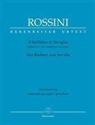 Pierre A. C. de Beaumarchais, Gioacchino Rossini, Gioacchino A. Rossini, Gioachino Rossini, Patricia B. Brauner - Der Barbier von Sevilla, Klavierauszug (Italienisch-Deutsch)