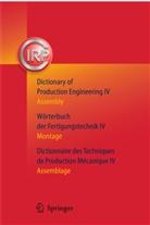 C. I. R. P., C.I.R.P., C.I.R.P., CIRP, I R P - Wörterbuch der Fertigungstechnik - 4: Montage