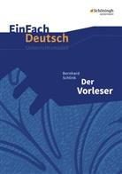 Bettin Greese, Bettina Greese, Almu Peren-Eckert, Almut Peren-Eckert, Sonja Pohsin, Bernhard Schlink - Bernhard Schlink 'Der Vorleser'