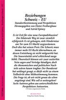 Astrid Epiney, Dieter Freiburghaus - Beziehungen Schweiz - EU