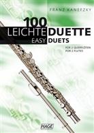 Franz Kanefzky, Helmut Hage, Franz Kanefzky - 100 leichte Duette für 2 Querflöten. 100 Easy Duets for 2 Flutes