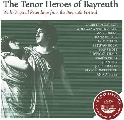 Lauritz Melchior, Ernst Kraus, Erik Schmedes, Franz Völker, Franz Hopf, … - The Tenor Heroes of Bayreuth - With Original Recordings from the Bayreuth Festival (10 CDs)