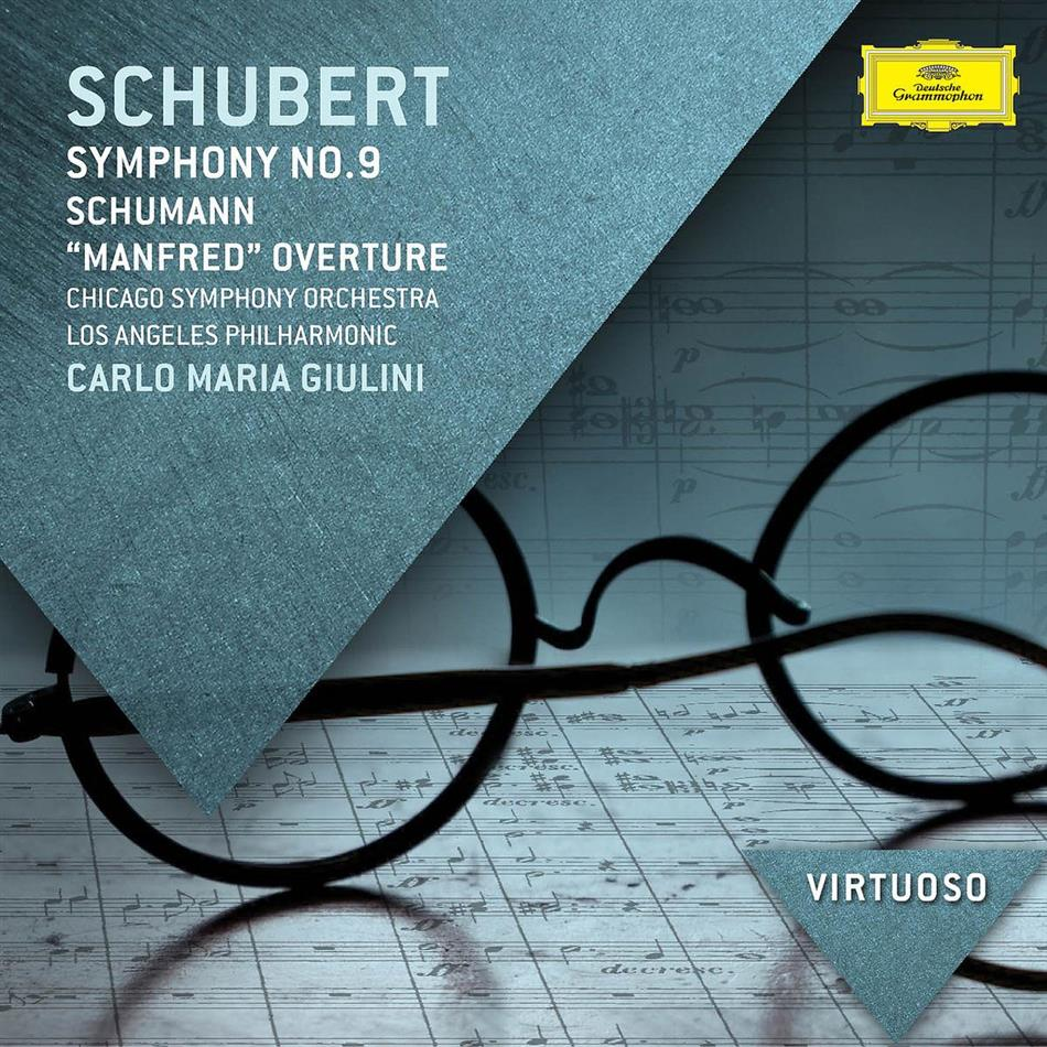 Franz Schubert (1797-1828), Robert Schumann (1810-1856), Carlo Maria Giulini, Chicago Symphony Orchestra & Los Angeles Philharmonic - Symphony No.9 / Manfred Overture - Virtuoso-Serie