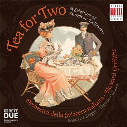 Maurice Steger, Davide Cabassi, Howard Griffiths & Orchestra Della Svizzera Italiana - Tea For Two - A Selection Of European Delicacies