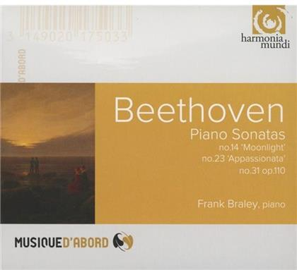 Ludwig van Beethoven (1770-1827) & Frank Braley - Klaviersonaten : Nr14 Mondschein, Nr23 Appassionat