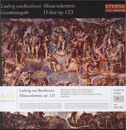 Ludwig van Beethoven (1770-1827), Kurt Masur, Anna Tomova-Sintow, Annelies Burmeister, Peter Schreier, … - Missa Solemnis D-Dur - Februar 1972 (2 LPs)