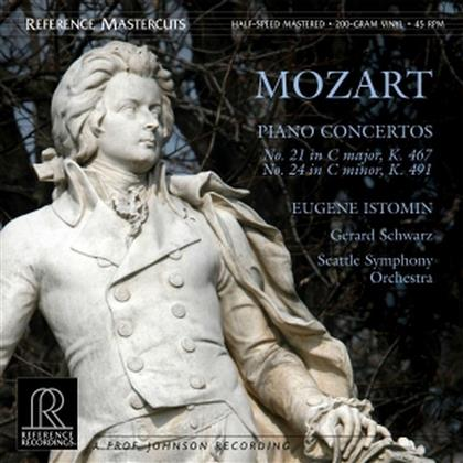 Wolfgang Amadeus Mozart (1756-1791), Gerard Schwarz, Eugene Istomin & Seattle Symphony Orchestra - Concertos No.21 & 24 - Half-Speed Mastered - Reference Recordings (2 LPs)