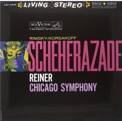 Nikolai Rimsky-Korssakoff (1844-1908), Fritz Reiner, Sidney Harth & Chicago Symphony Orchestra - Scheherazade (33 RPM, Acoustic Sounds Ausgabe, LP)