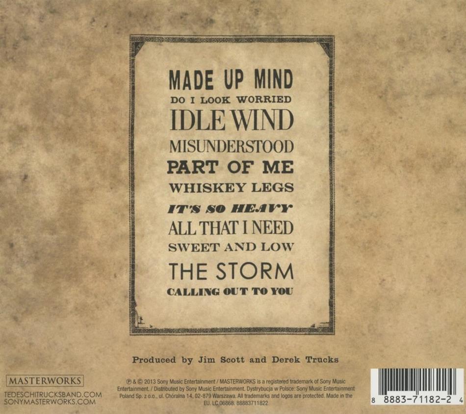 Made Up Mind Von Tedeschi Trucks Band Cede Ch