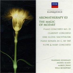 Vladimir Ashkenazy, Andras Schiff, Alfred Prinz, Willi Boskovsky & Wolfgang Amadeus Mozart (1756-1791) - Aromatherapy 03 - Magic Of Mozart - Eloquence - Piano Concerto 21, CLarinet Concerto, Eine kleine Nachtmusik, Piano Sonata in C, KV 545, Flute & Harp Concerto