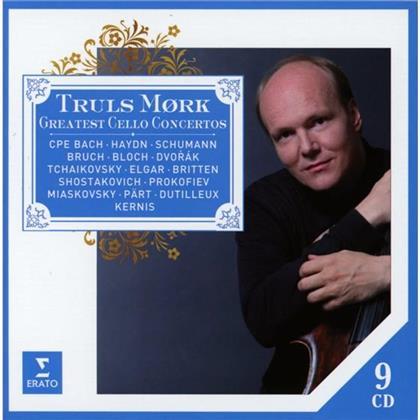 Truls Mork, Joseph Haydn (1732-1809), Antonin Dvorák (1841-1904), Sir Edward Elgar (1857-1934) & Dimitri Schostakowitsch (1906-1975) - Die Groessten Cellokonzerte (9 CDs)