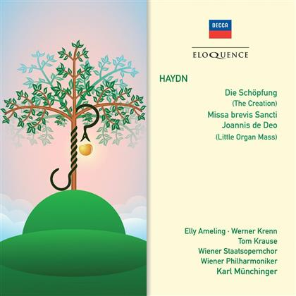 Wiener Staatopernchor, Elly Ameling, Werner Krenn, Tom Krause, Joseph Haydn (1732-1809), … - The Creation / Missa brevis Sancti (Little Organ Mass) - Eloquence (2 CDs)