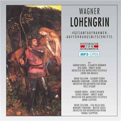 Sandor Konya, Elisabeth Grümmer, Rita Gorr, Ernest Blanc, Lovro von Matacic, … - Lohengrin Mp3 Oper - 4 Gesamtaufnahmen - Aufführungsmitschnitte (2 CDs)