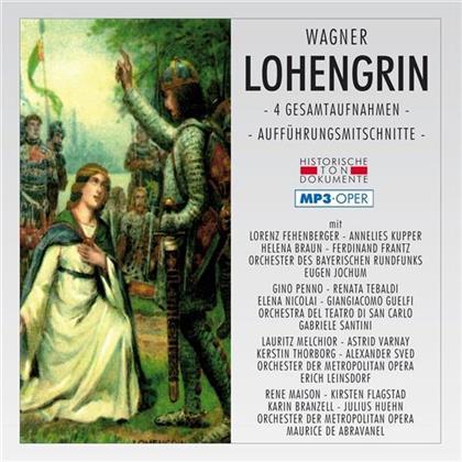 Lorenz Fehenberger, Annelies Kupper, Helena Braun, Ferdinand Frantz, Gino Penno, … - Lohengrin - Mp3 Oper - 4 Gesamtaufnahmen - Aufführungsmitschnitte (2 CDs)