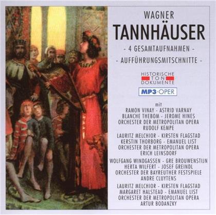 Orchester der Metropolitan Opera, Orchester der Bayreuther Festspiele, Ramon Vinay, Astrid Varnay, Blanche Thebom, … - Tannhäuser - Mp3 - 4 Gesamtaufnahmen (2 CDs)