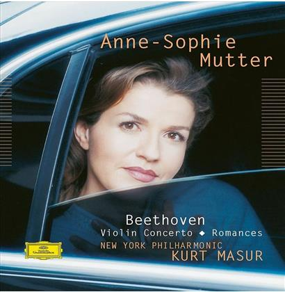 Ludwig van Beethoven (1770-1827), Kurt Masur, Anne-Sophie Mutter & New York Philharmonic - Violin Concerto / Romances - Pure Audio - Only Bluray