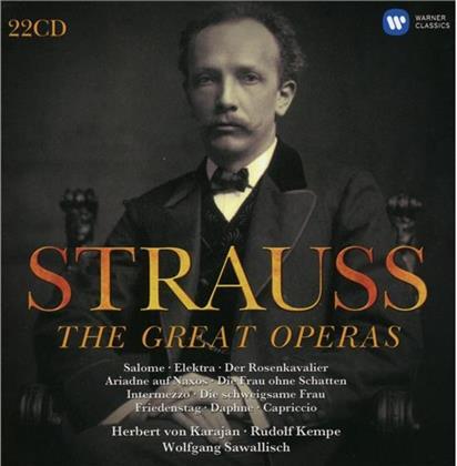 Richard Strauss (1864-1949), Rudolf Kempe, Wolfgang Sawallisch & Herbert von Karajan - Die Großen Opern(Ltd.Edition) (22 CDs)