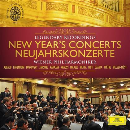 Johann Strauss, Joseph Strauss & Wiener Philharmoniker - New Year's Concerts - Legendary Recordings (CD + DVD)