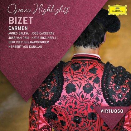 Georges Bizet (1838-1875), Herbert von Karajan, Jose van Dam, Katia Ricciarelli, Agnes Baltsa, … - Carmen (Highlights)