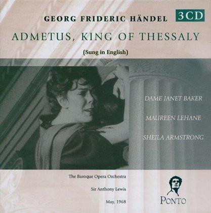 Dame Janet Baker, Maureen Lehane, Sheila Armstrong, Georg Friedrich Händel (1685-1759), Sir Anthony Lewis, … - Admeto, Re Di Tessaglia - Admetus King Of Thessaly - May 1968 - Sung In English (Remastered, 3 CDs)