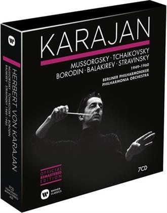 Modest Mussorgsky (1839-1881), Peter Iljitsch Tschaikowsky (1840-1893), Alexander Borodin (1833-1887), Mili Balakirev (1899-1977), Igor Strawinsky (1882-1971), … - Karajan 1949-1960 (Remastered, 7 CDs)