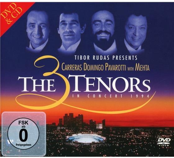 Los Angeles Music Center Opera Chorus, Zubin Mehta, José Carreras, Placido Domingo, Luciano Pavarotti, … - 3 Tenors In Concert 1994 - 20th Anniversary Celebration - Includes Nessun Dorma (CD + DVD)