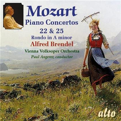 Wolfgang Amadeus Mozart (1756-1791), Paul Angerer, Alfred Brendel & Vienna Volksoper Orchestra - Piano Concertos 22 + 25, Rondo in A minor (Remastered)