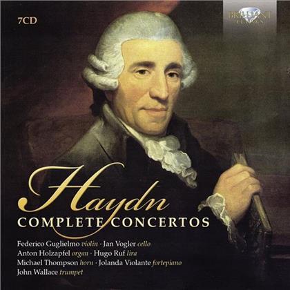 Hugo Ruf, Joseph Haydn (1732-1809), Michael Thompson, John Wallace, Federico Guglielmo, … - Komplette Konzerte (7 CDs)