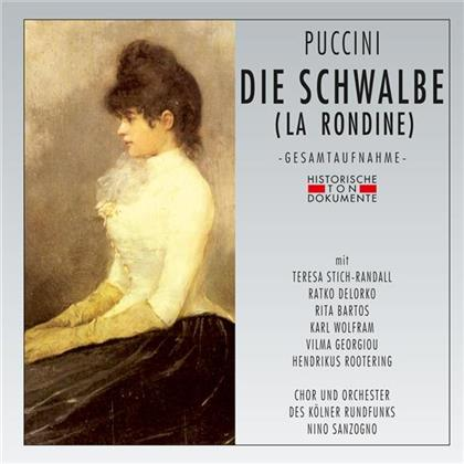 Giacomo Puccini (1858-1924), Teresa Stich-Randall, Rita Bartos, Karl Wolfram, Vilma Georgiou, … - Die Schwalbe - Deutsch gesungen, 1958 (2 CDs)