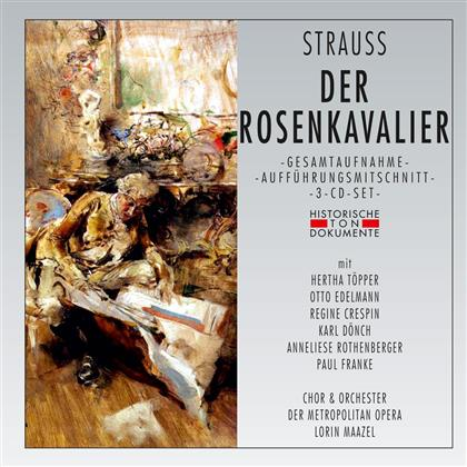 Richard Strauss (1864-1949), Hertha Töpper, Otto Edelmann, Regine Crespin, Karl Dönch, … - Der Rosenkavalier - 1962 (3 CDs)