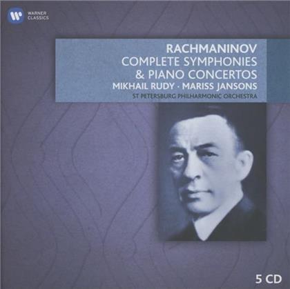 Mikhail Rudy, Sergej Rachmaninoff (1873-1943) & Mariss Jansons - Sämtliche Sinfonien & Klaviierkonzerte (5 CDs)
